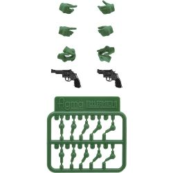 figma LAOP07 Tactical Gloves 2 - Revolver Set (Green)