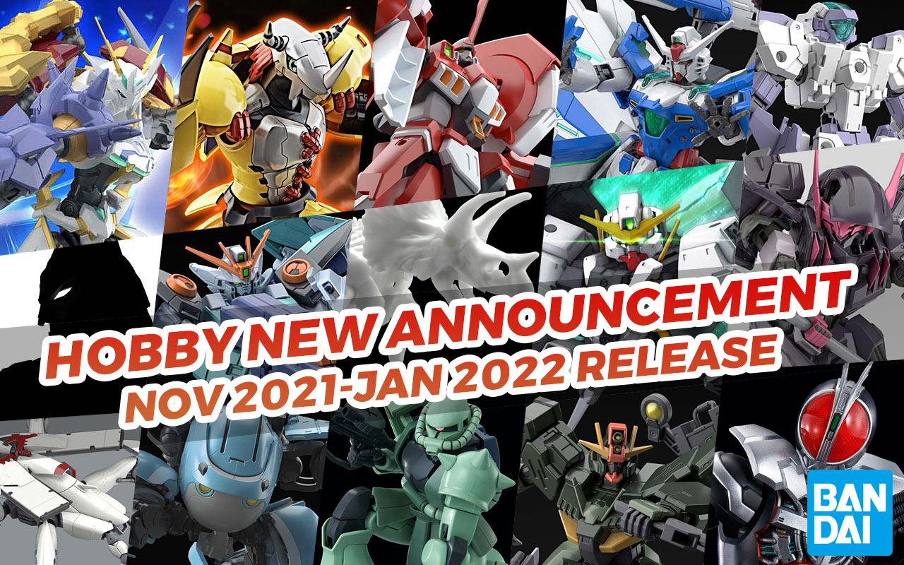 Bandai Hobby July 2021 Announcements (November-January Release)